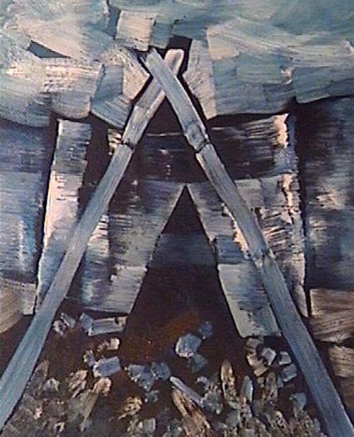 Acceso a lo desconocido - Oleo - 30 x 24 cm - 1991