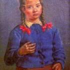 Antonio Berni - La niña de las trenzas - oleo s tela - 88 x 65 cm - 1946
