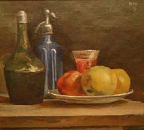 Antonio Berni - Naturaleza con sifon - oleo - 46 x 50 cm - 1946