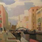 Aquiles Badi - Venecia desde San Barnaba - oleo - 60 x 80 cm - 1967