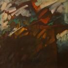 Carlos Cañas - Presagio - oleo s tela - 33 x 43 cm - 1991 -