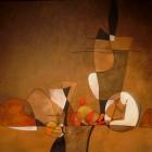 Carlos Ercoli - Objetos en Penumbra - oleo - 40 x 50 cm - 2006
