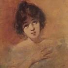 Collivadino Pio - Mujer - acuarela  - 20 x 18 cm - 1935