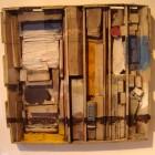 Ernesto Berra - Const. con blancos, azules y am.- 30 x 30 x 4 cm - 2000 -