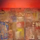 Ernesto Berra - Medianera con cielo rojo-tecnica mixta - 70 x 75 cm - 2007