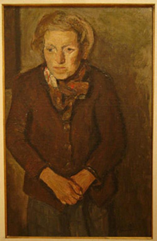 Eugenio Daneri - Figura - oleo - 71 x 45 cm - 1950