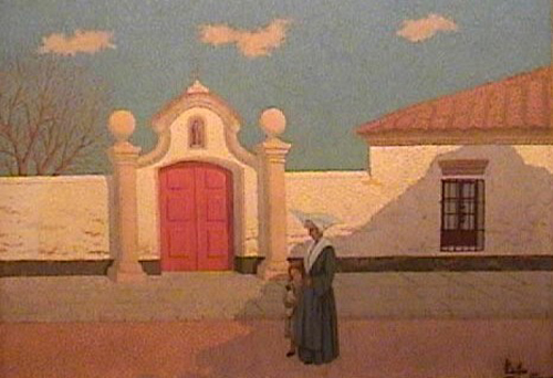 Frente al convento