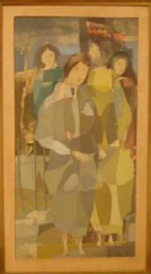 Juan Batlle Planas - Figuras-I - 47 x 25 cm - 1960