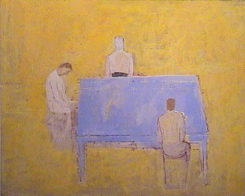 Jugadores de naipes - mixta - 70 x 90 cm - 2002