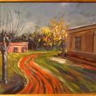 La casa en Roldan - tempera - 23 x 30 cm - 1948
