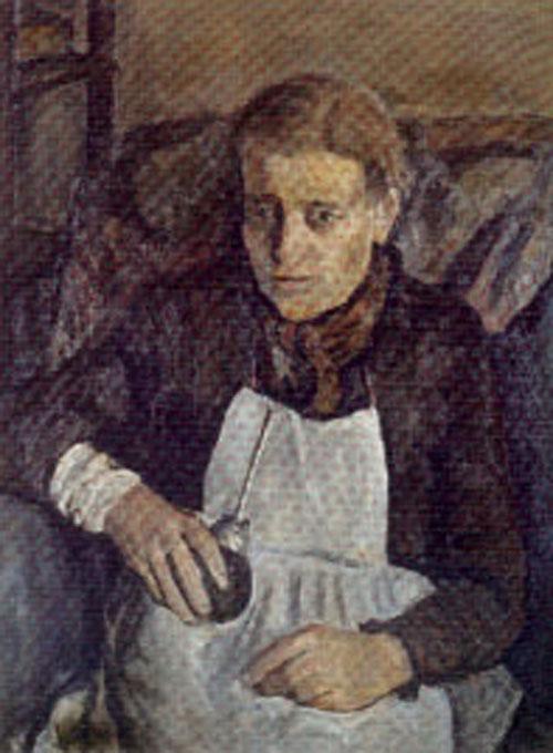 La hora del mate - oleo - 84 x 64 cm - 1953