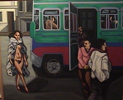 La venus de las pieles- oleo - 80 x 100 cm - 2003