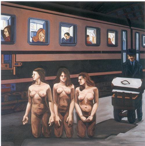 Las tres marias - oleo - 100 x 100 cm - 2003