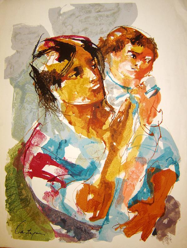 Maternidad-serigrafia