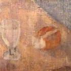 Miguel Diomede - Copa y pan - oleo sobre tela - 29 x 40 cm - 1945