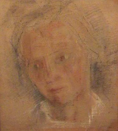 Miguel Diomede - Mujer- Pastel - 40 x 34 cm - 1942