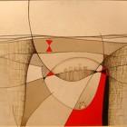Objetos Alineados - oleo - 80 x 100 cm - 2007