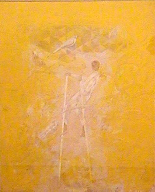Raul Diaz - Los pájaros - mixta  - 48 x 38 cm - 1994