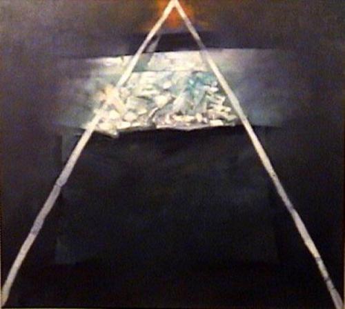 Soñada simetria - oleo sobre tela - 70 x 80 cm - 1991
