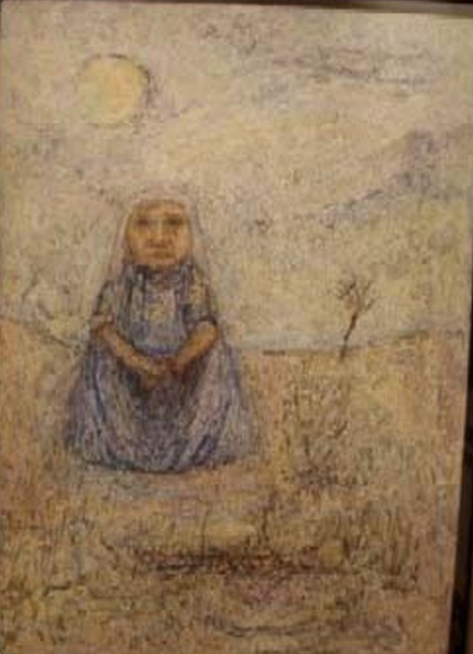 Soledad - Cromo-yeso 44 x 32 cm ,1949