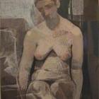 Teresio Fara - Figura I - Pastel graso - 36 x 26,5 cm - 1974