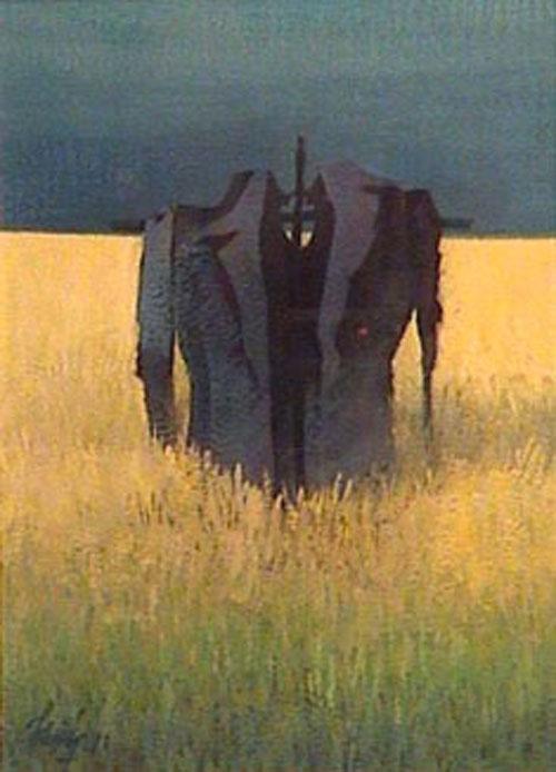 Tiempo de cosecha - Tempera - 24 x 18 cm - 1978