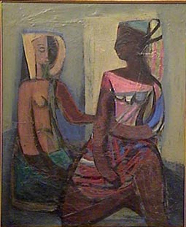 Zdravko Ducmelic - Figuras - oleo - 50 x 40 cm - 1955