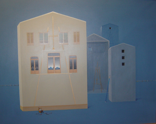Antonio Monteiro - Cordoba Azul - Acrilico - 80 x 100 cm - 1997-