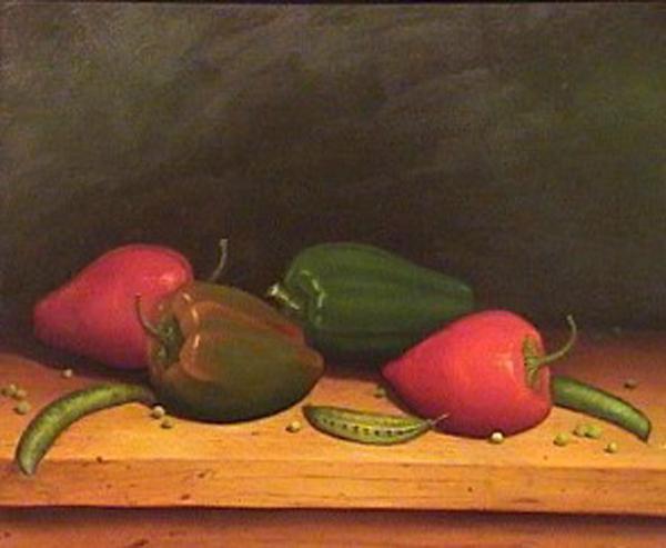 Carlos Pfeiffer - Ajies - oleo - 40 x 50 cm - 1990