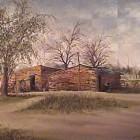Carlos Pfeiffer - Casita en Merlo - oleo - 30 x 40 cm - 1979