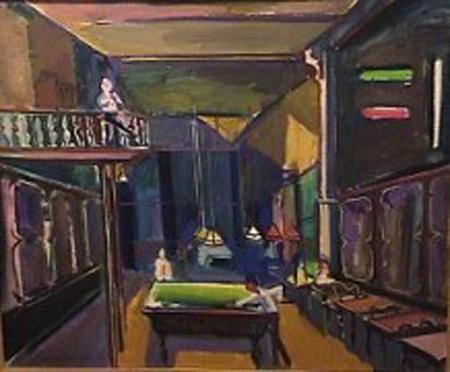 Carlos Torrallardona - Los 36 billares - oleo - 50 x 61 cm - 1983