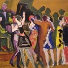 Carlos Torrallardona - Tango bar - oleo - 38  x 46 cm - 1983