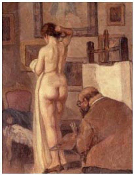 El pintor y la modelo copiar