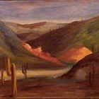 Horacio March - Paisaje serrano - oleo - 31 x 48 cm - 1943