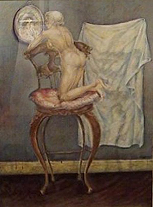 Julio Pagano - Desnudito - Mixta sobre papel - 95 x 65 cm - 1988