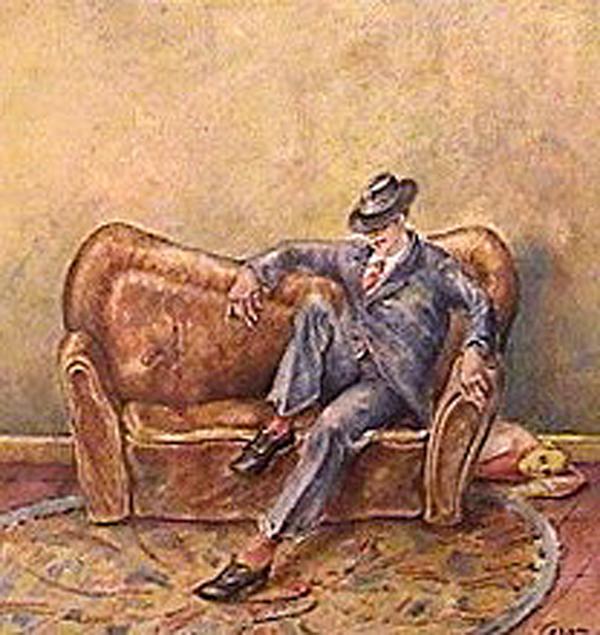 Julio Pagano - El asesinadito - pastel sobre papel - 33 x 33 cm - 1984