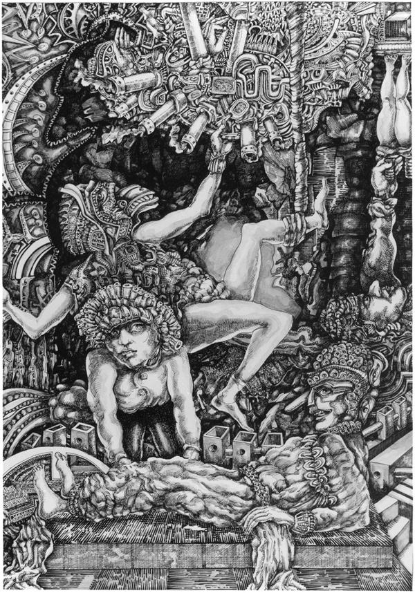 -La Resurreccion- Tinta - 60 x 40 cm - 2007