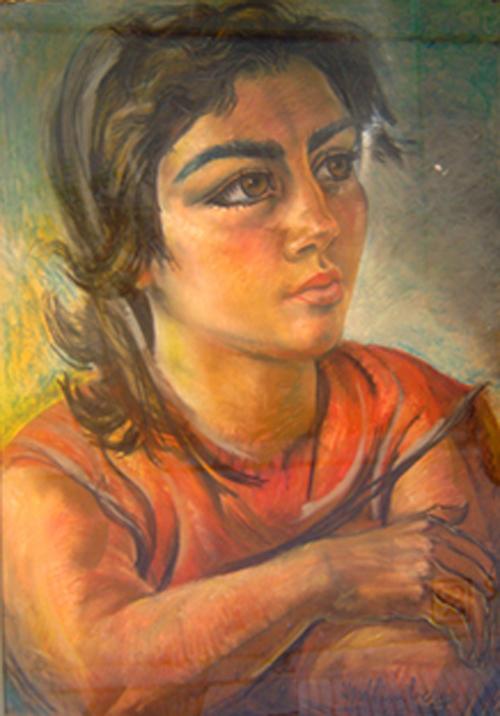 La amasadora - Pastel - 57 x 80cm - 1960