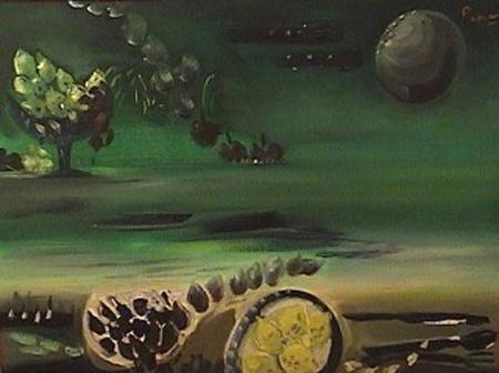 Leopoldo Presas - Paisaje - oleo - 60 x 80 cm - 1974