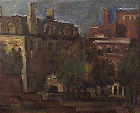 Marcos Tiglio - Paisaje urbano (291) - oleo - 43 x 53 cm - 1948