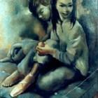 Mariette Lydis - Las Bailarinas - oleo - 73 x 60 cm - 1955