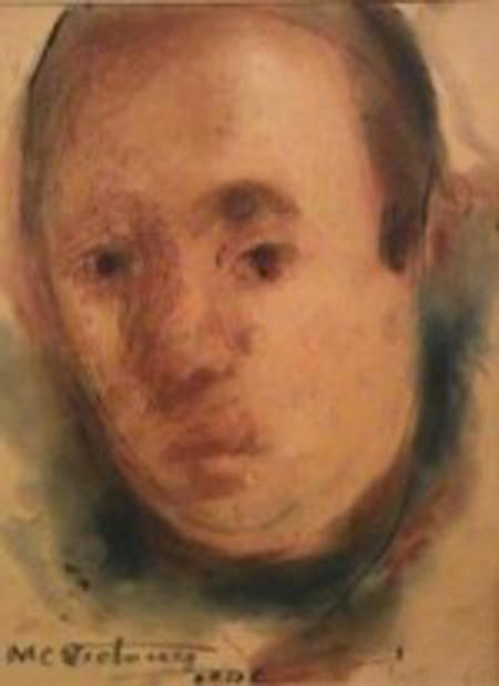 Miguel Carlos Victorica - Cabeza - Mixta - 32 x 23 cm - 1948