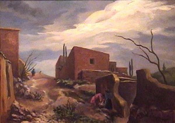Onofrio Pacenza - Humahuaca - oleo sobre carton- 39,5 x 56,5cm - 1948