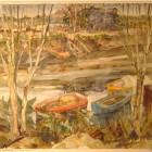 Rafael Muñoz - Arroyo Sarandi - Monocopia 51x 65 cm - 1964